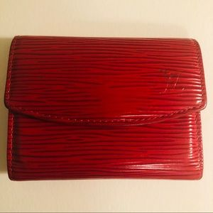 Louis Vuitton Red Epi Leather Small Change Purse